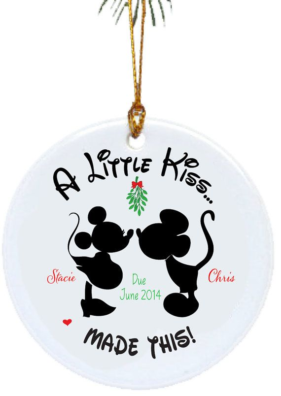 Personalized Christmas Ornaments A Little Kiss Made ThisPregnancy