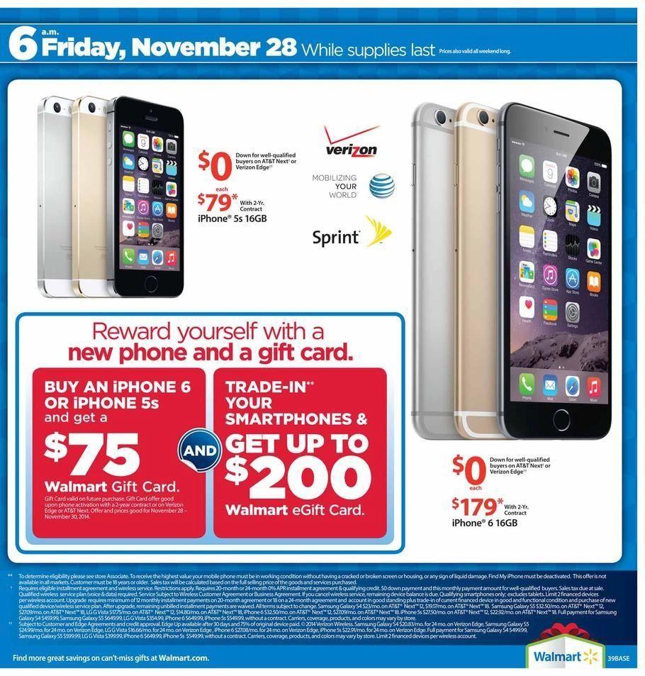 walmart deals black friday iphone