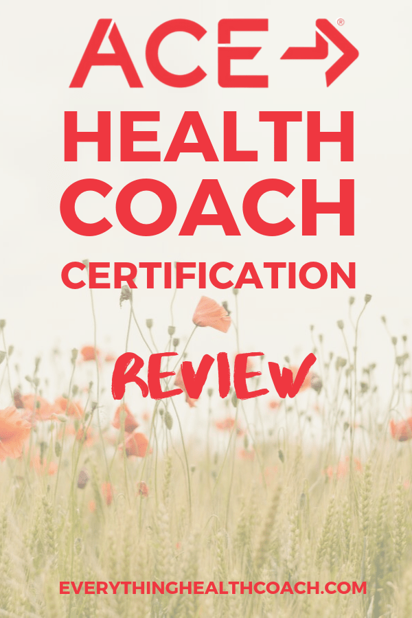 Ace Health Coach Certification Review Health Coach Certification Health Coach Wellness Coach