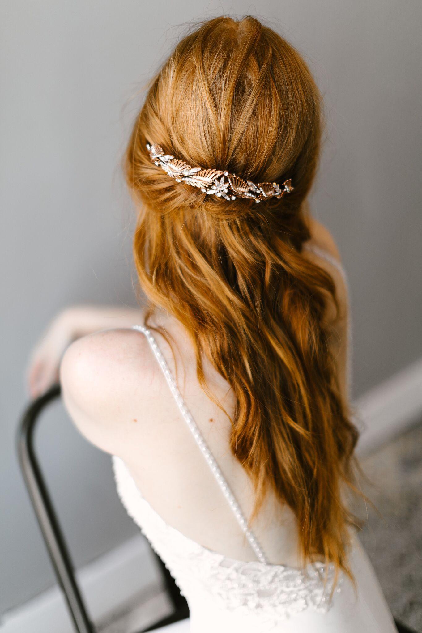 Reyes Tiara Untamed Petals Wedding Accessories