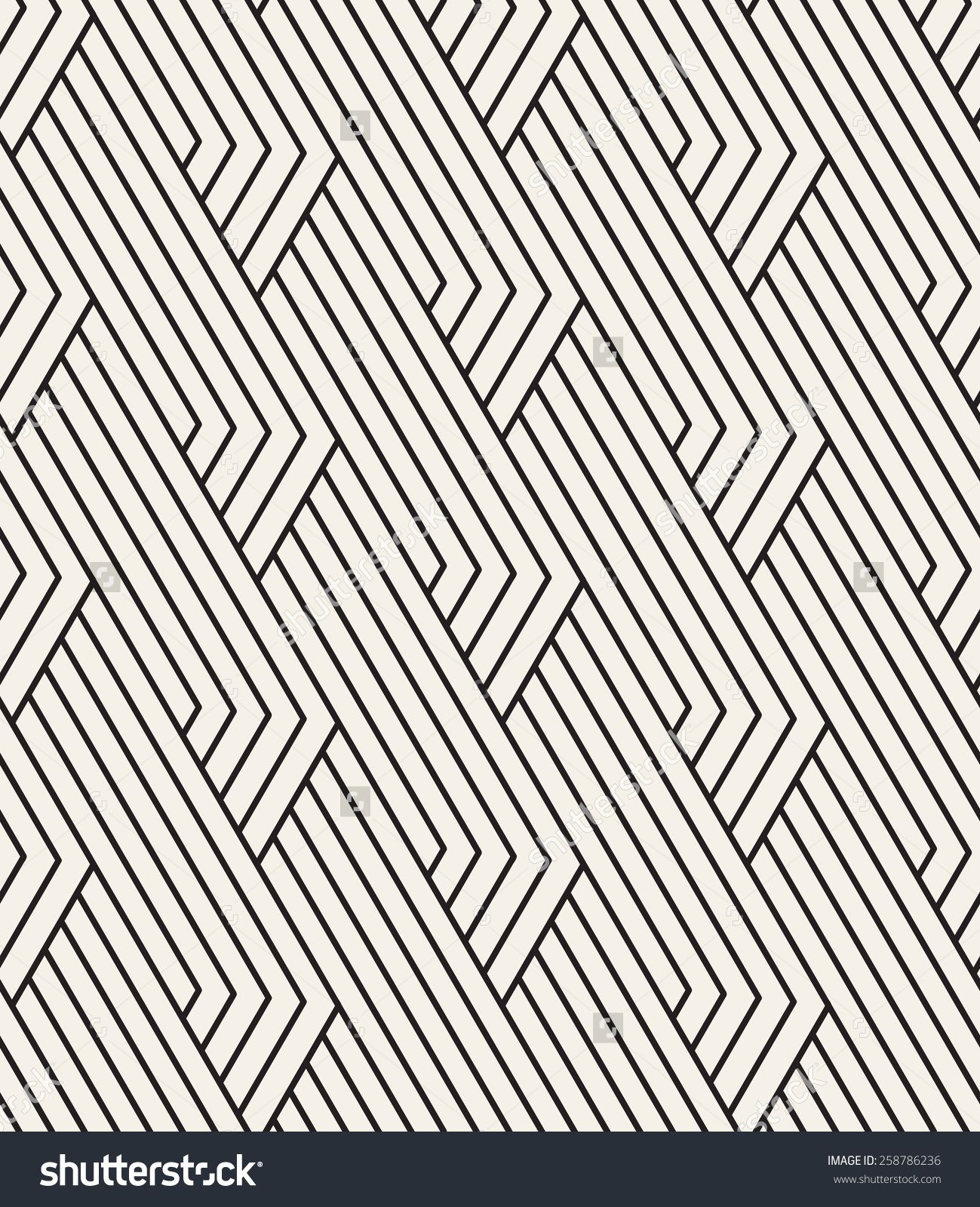 Vector Seamless Pattern. Linear Graphic Design. Decorative ...  |Linear Graphic Art