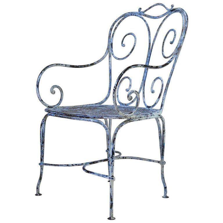 Large Wrought Iron Chair France Circa 1900 Wrought Iron Chairs Iron Chair Wrought Iron Patio Furniture Wrought iron chairs for sale