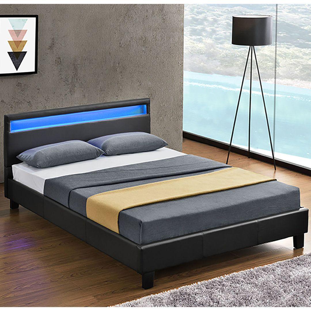 Polsterbett 120x200 Inkl Led Schwarz Polsterbett Bett Polsterbett 120x200