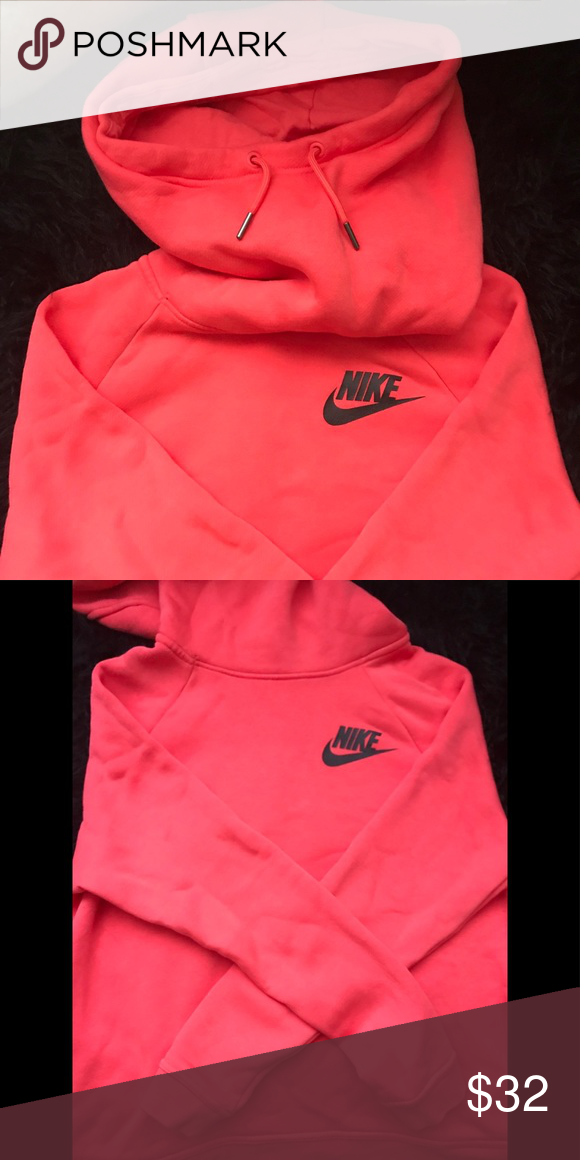 0a8555768b6f Nike pullover hoodie in Coral  pink color Nike pullover with pockets   a  high neck Nike Tops Sweatshirts   Hoodies
