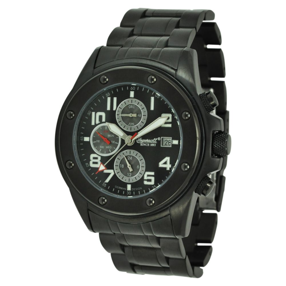 Ingersoll Men's 'Harlem' Black Stainless Steel Automatic Watch by INGERSOLL
