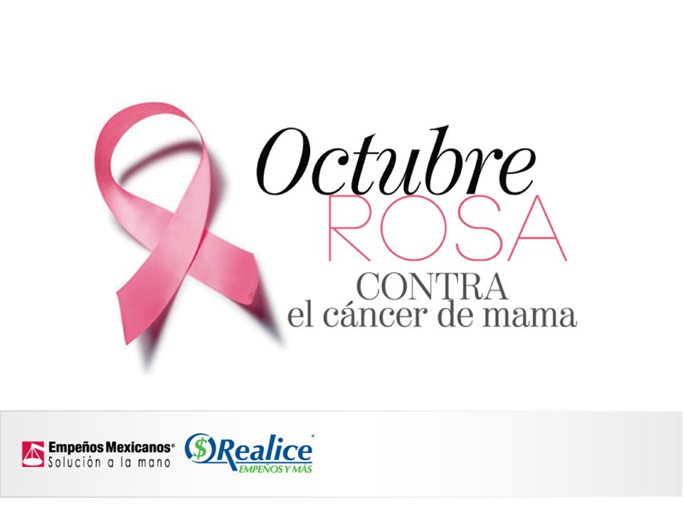 #OctubreRosa Mes de la sensibilización acerca del Cáncer de Mama