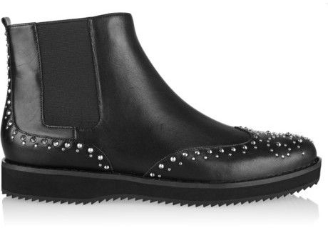 ea130cc3ddd2d5 Black Studded Leather Chelsea Boots by MICHAEL Michael Kors. Buy for  250  from NET-A-PORTER.COM
