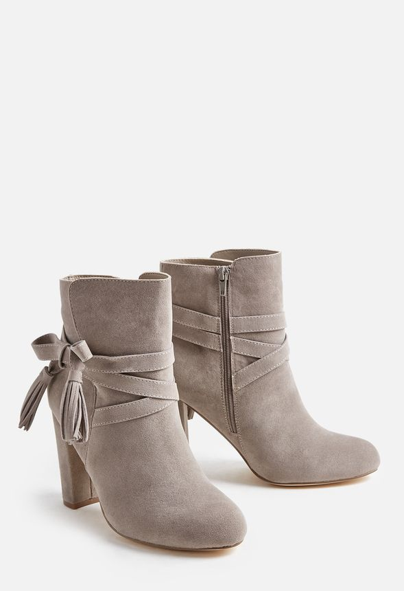7871cfde8 JustFab Landry Bootie Womens Gray regular Size 11 | Products | Shoes ...