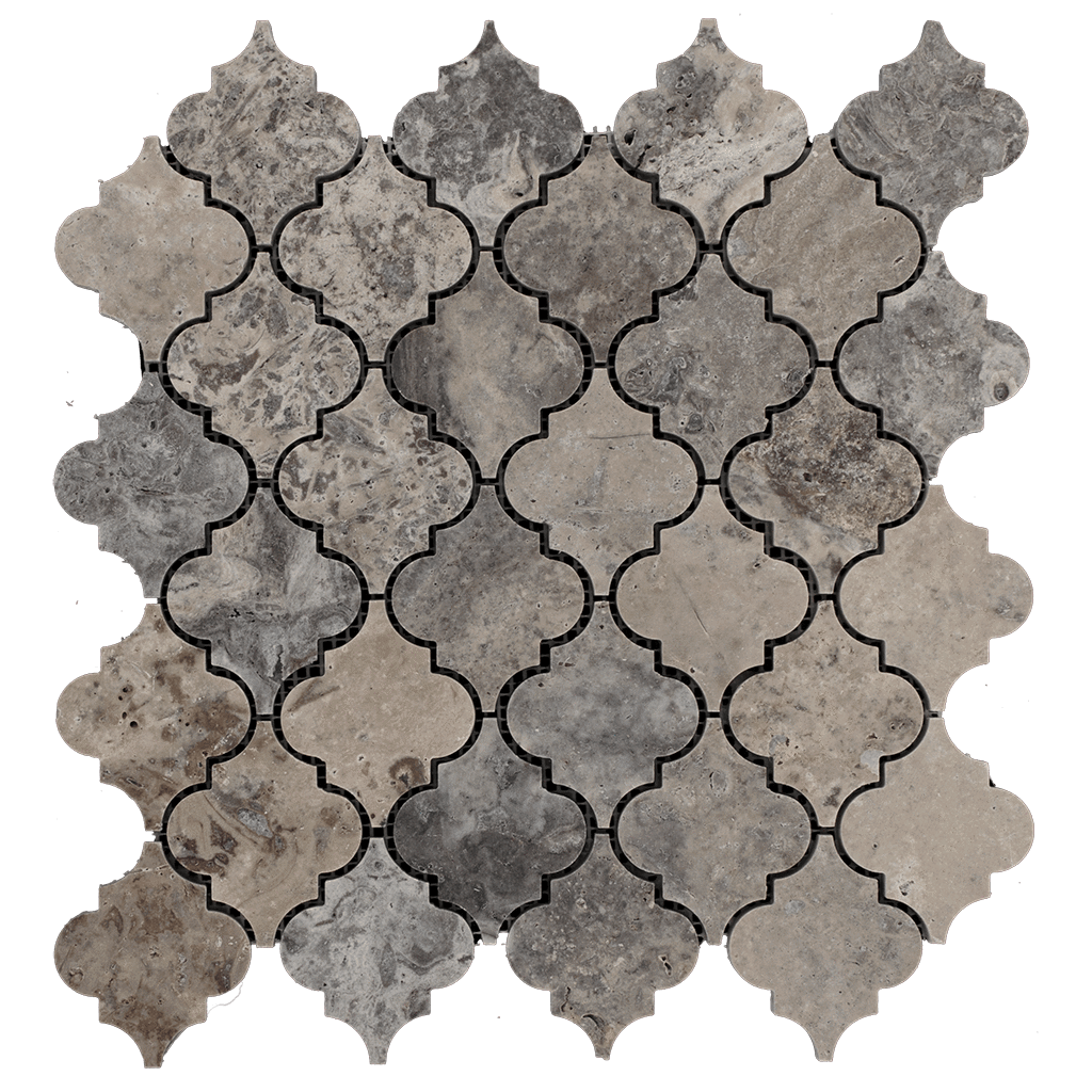 Silver Travertine Mosaic Tile Arabesque Honed Travertine Mosaic Tiles Travertine Stone Mosaic Tile