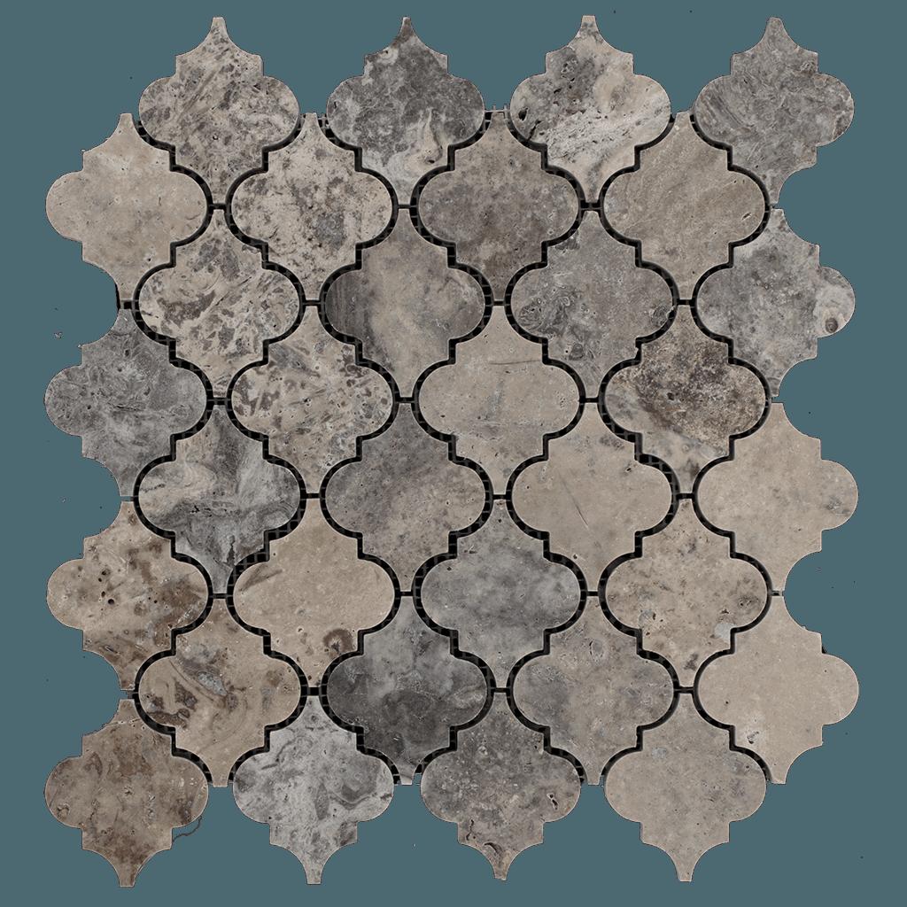 Silver Travertine Mosaic Tile Arabesque Honed In 2019