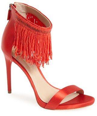 #Farbbberatung #Stilberatung #Farbenreich mit www.farben-reich.com My 5 Favorite Red Heels For Spring - BCBGMAXAZRIA Devine Ankle Strap Sandal