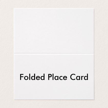 Personalized Folded Place Card - image gifts your image here cyo - folded place card templates