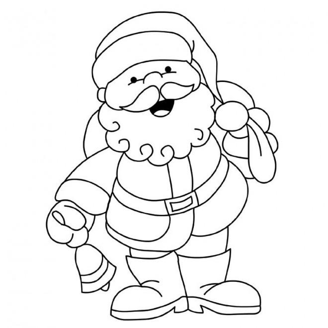 Coloriage Père Noël facile dessin gratuit à imprimer   Dessin noel, Dessin gratuit, Coloriage