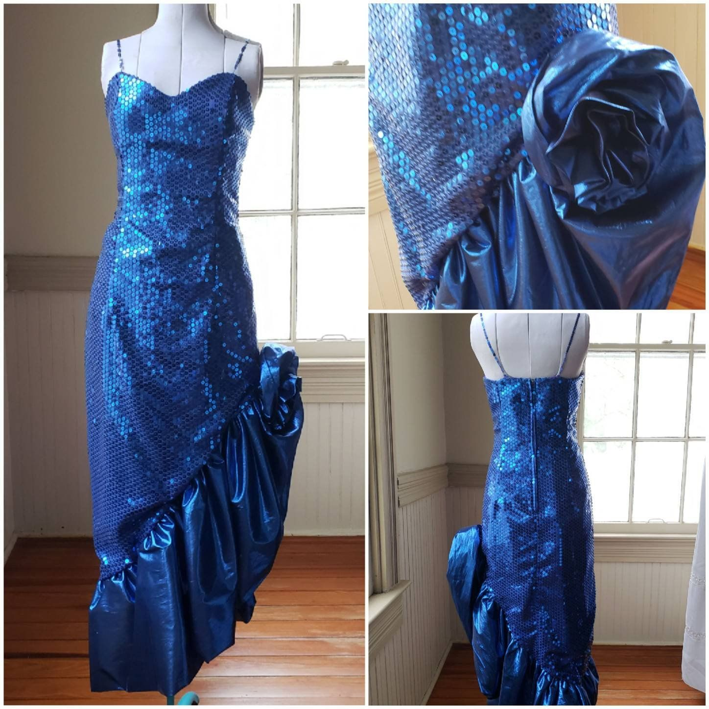 Reserved For Esther 80s Prom Dress Vintage Royal Blue Metallic Etsy 80s Prom Dress Mint Green Prom Dress Prom Dresses Vintage [ 1448 x 1448 Pixel ]