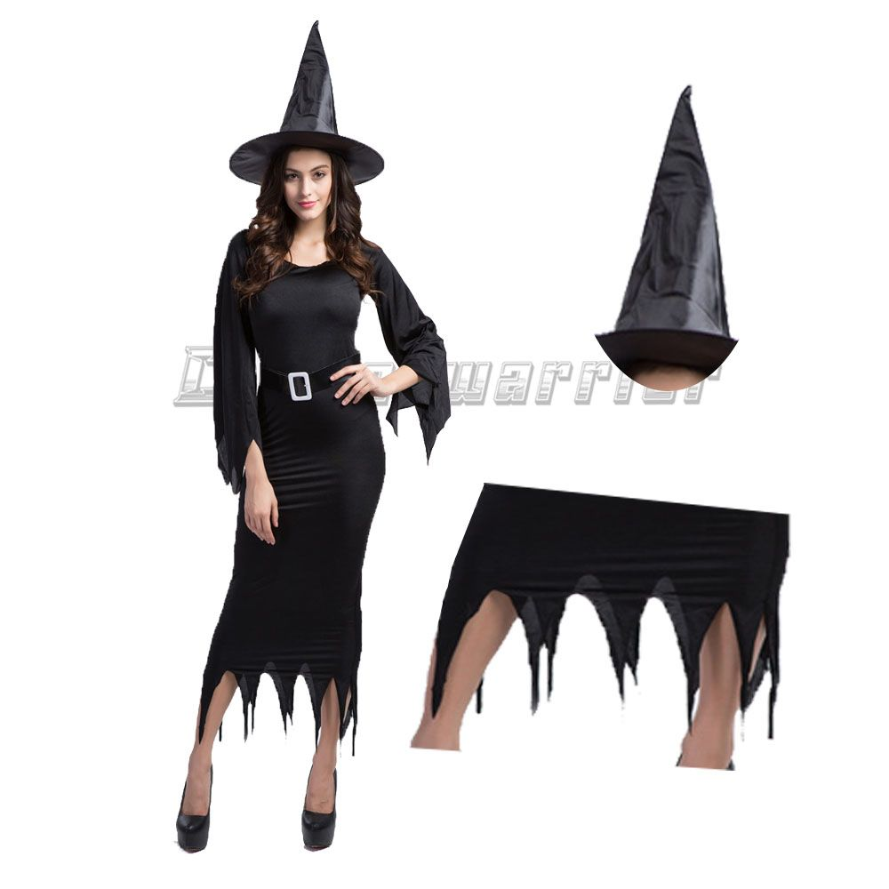 Click to buy ucuc vampire witch cosplay black ghost bride black angel