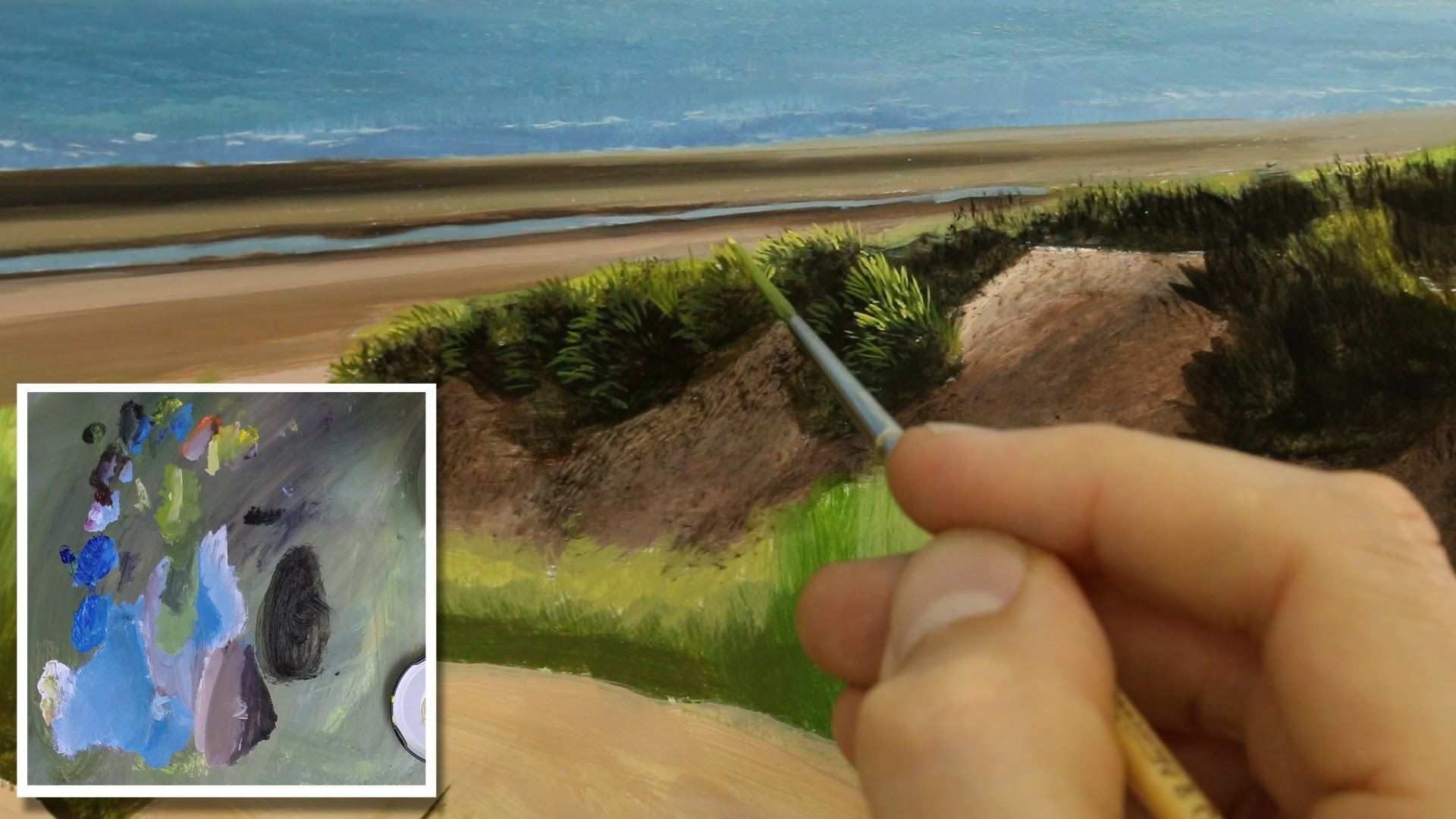 Pittura Ad Olio Tutorial 39 How To Paint A Beach Seascape Oil Painting Tutorial Pittura