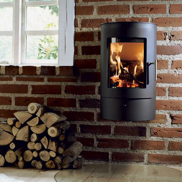 Westfire Uniq 21 Wall Mounted Wood Burning Stove Cliff Cottage - Wall Mounted Wood Stove WB Designs
