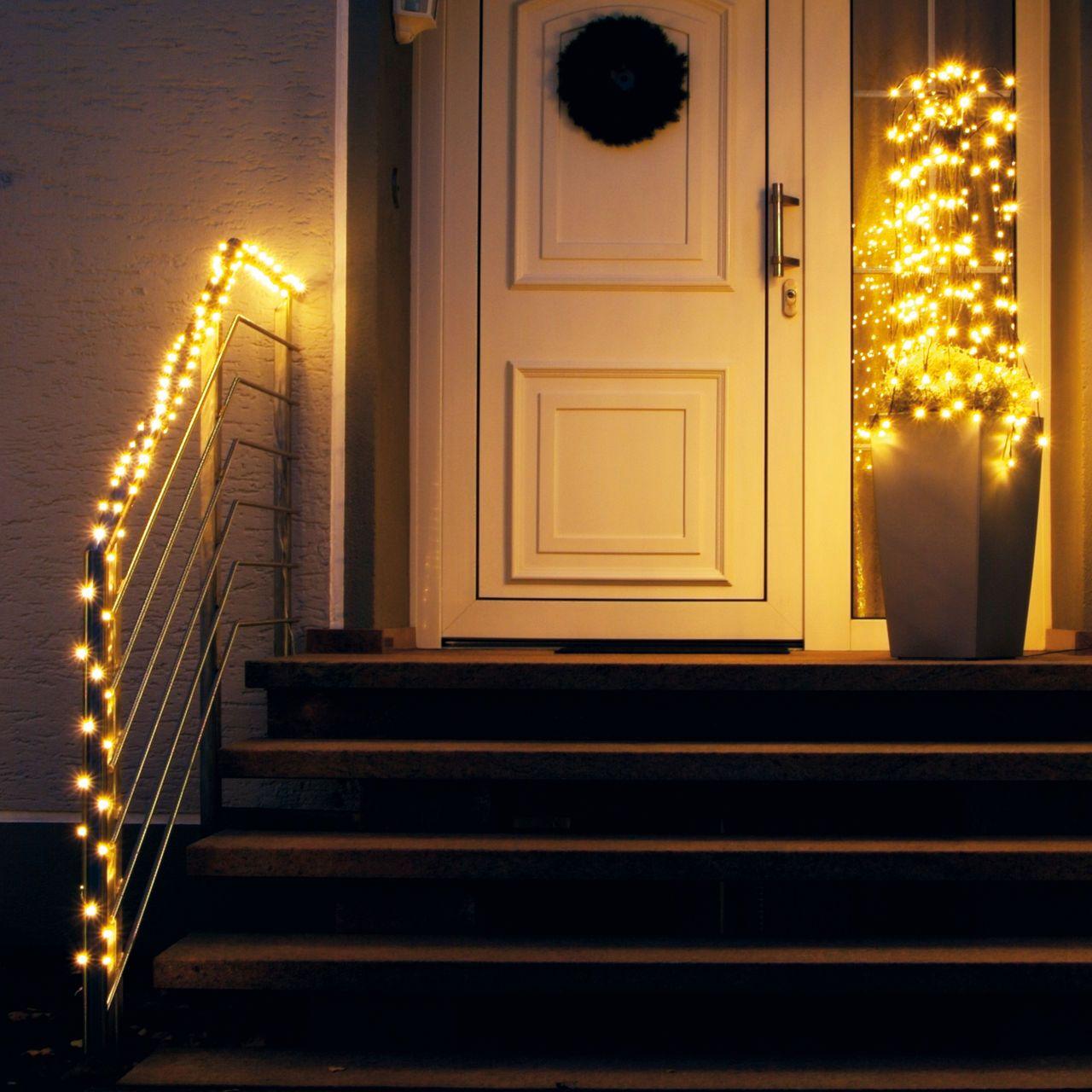 weihnachtliche led-lichterkette für draußen | weihnachten