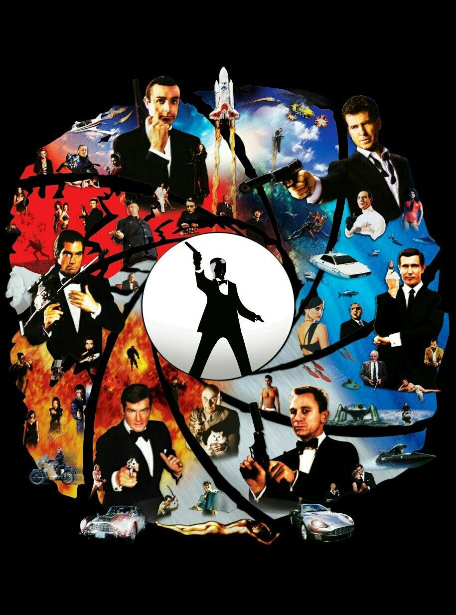 JAMES BOND 007 COLLAGE Cinéma, Affiche