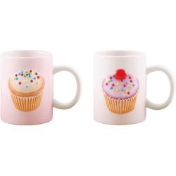 Pack of 6 Iced Fancies Cup Cake 3D Mugs