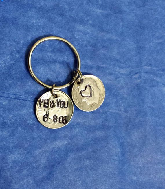 20 Year Wedding Anniversary Gift For Wife: Hand Stamped 20th Wedding Anniversary Gift For Man, 20