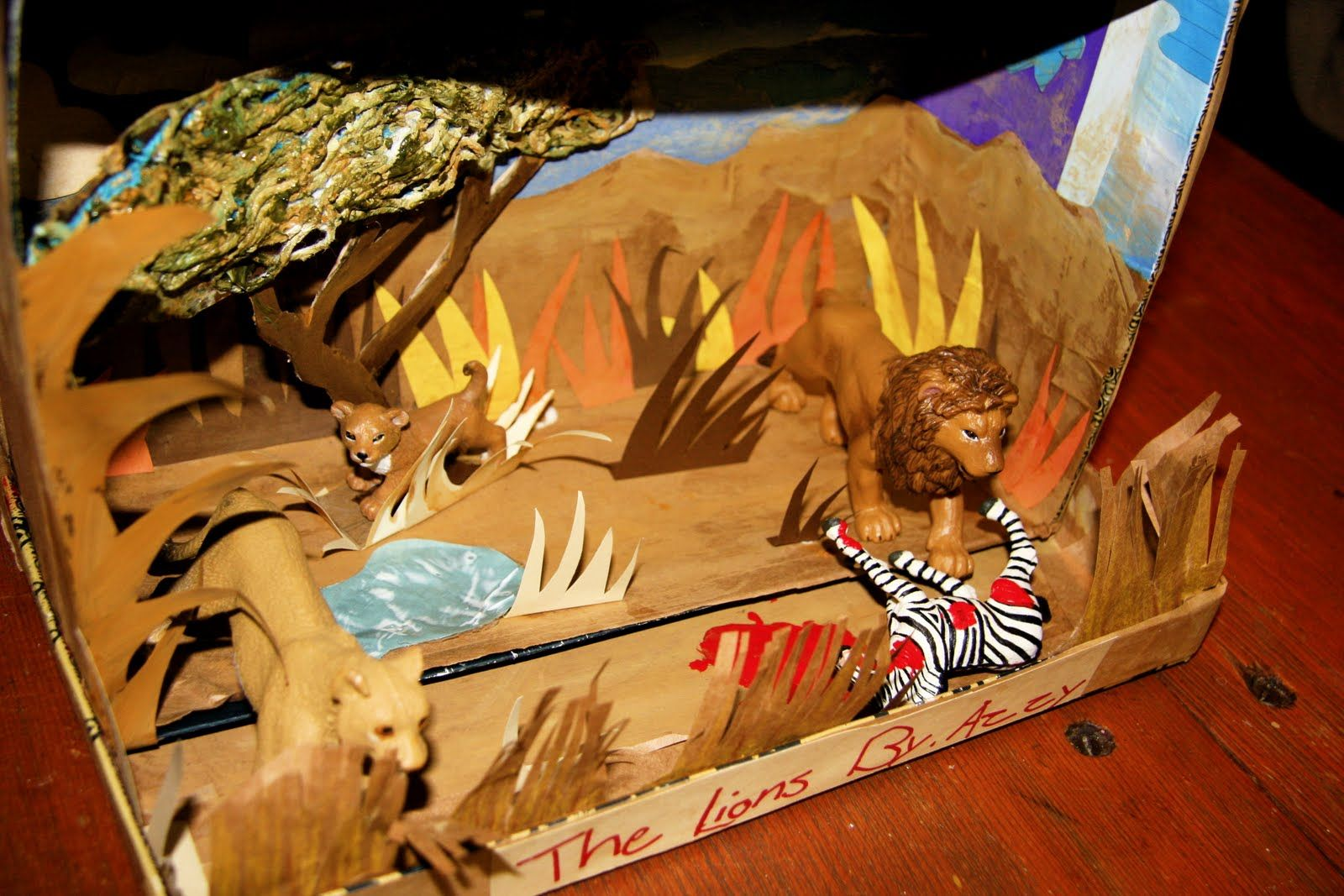 Image Gallery Lion Habitat Diorama