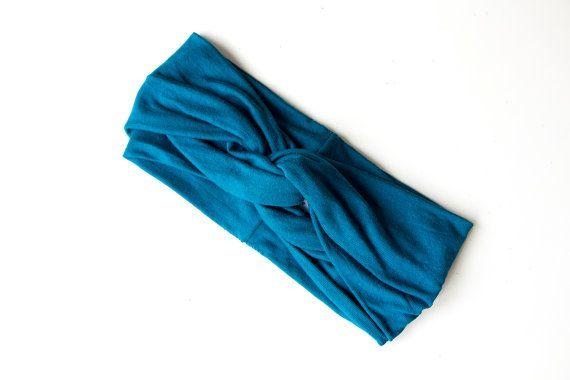 Turban Headband Teal by ChiChiDee on Etsy, £15.00