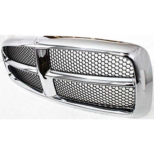 Diften 102-A2494-X01 - New Grille Assembly Grill Chrome shell gray insert Ram 1500 CH1200248 5HC98WS2AE