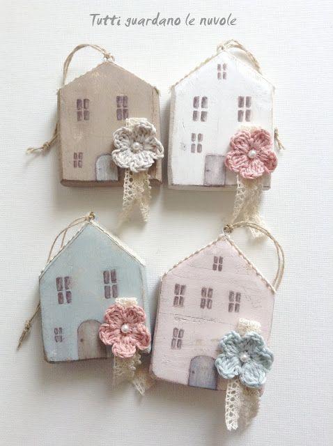 piccole case in legno semplici da realizzare dipinte a