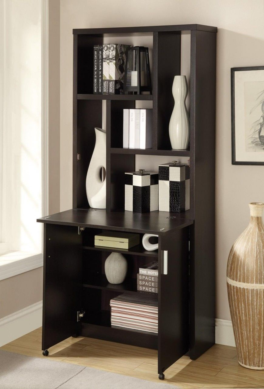 Miami direct furniture multiuse bookcase in cappuccino finish