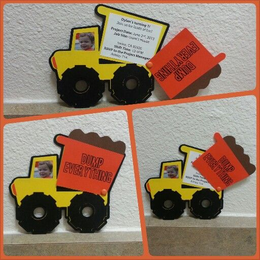 dump truck invitation this is exactly what i had in mind must do