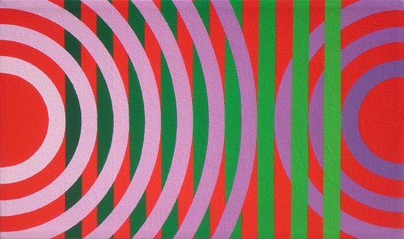 Milka waves, Acrylic on canvas, 15 x 25 cm, 2012, by Carlos Presto
