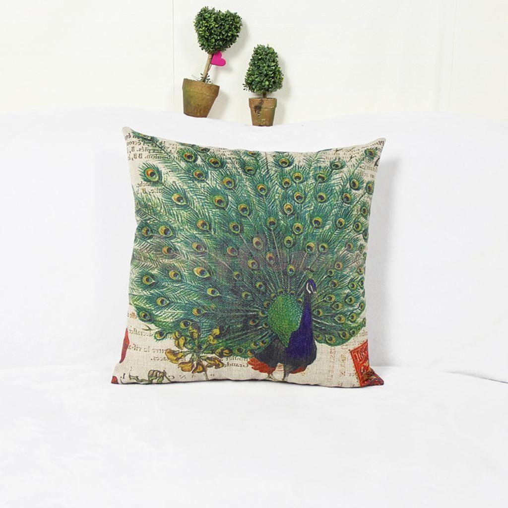 Proud peacock peafowl fan pillow case pillow slip cushion cover home