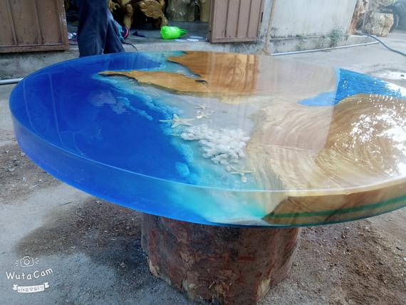 Coffee Table Epoxy Resin Ocean Coffee Table Most Beautiful With