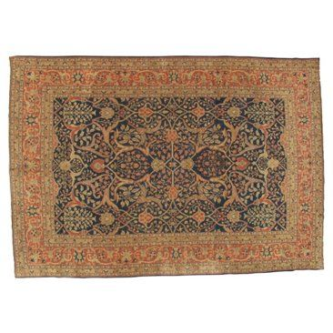 """Check out this item at One Kings Lane! Antique Tabriz Carpet, 12' x 8'4"""""""