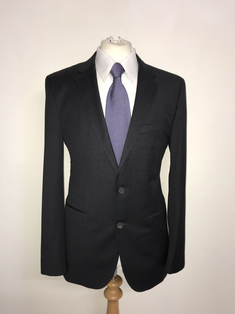 2c7eec07 HUGO BOSS - Mens Tailored Fit DARK GREY WOOL SUIT - 38 Reg - W32 L29 -  GORGEOUS #fashion #clothing #shoes #accessories #mensclothing  #suitssuitseparates ...