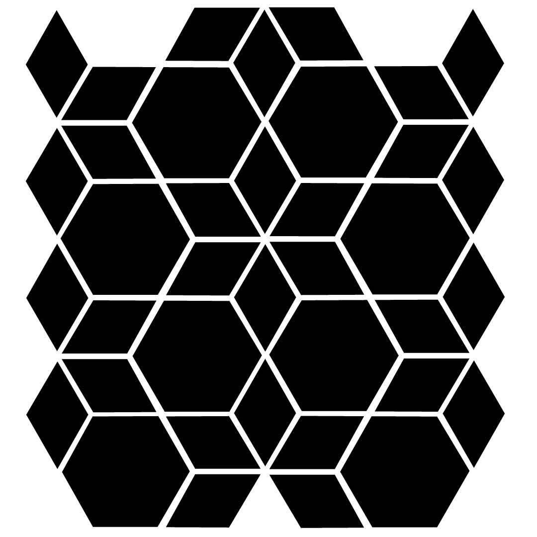 Hexagon diamond pattern on reusable laser cut stencil hexagon diamond pattern on reusable laser cut stencil pearldesignstudio amipublicfo Image collections