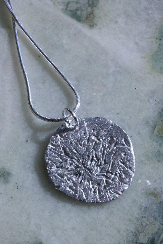 Fine Silver Dandelion Wish Necklace 3 by aTanaDesigns