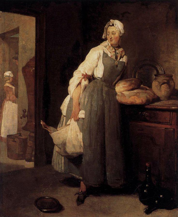 Jean Siméon Chardin - Servant Returning from the Market (La - return to work note