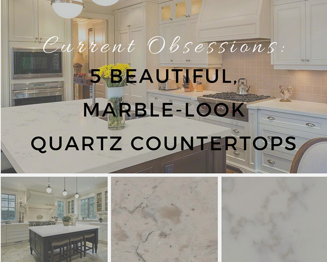 Awesome Current Obsessions: 5 Beautiful, Marble Look Quartz Countertops