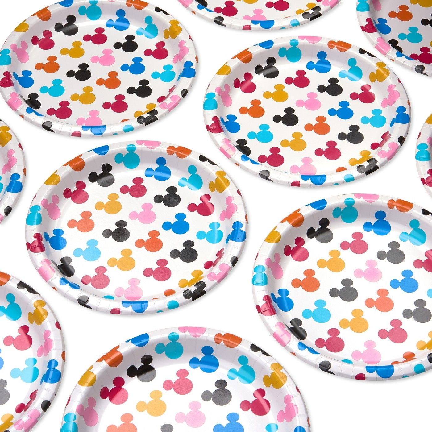 Colorful Mickey Mouse Plates Perfect For Birthday Parties And Baby