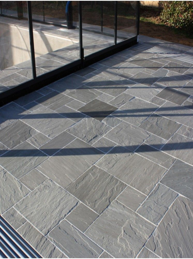 Decorative Patio Tiles Glamorous Salcombe Sandstone In A Seasoned Finishpatio Tiles With Soft Decorating Inspiration