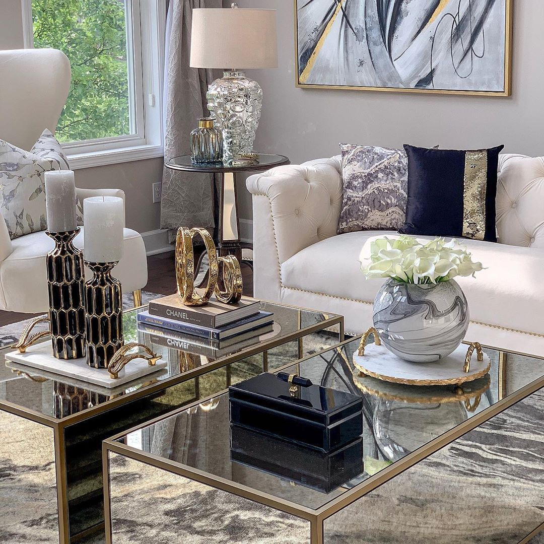 Modern Glam Living Room Decorating Ideas 19: Inspire Me Home Decor Living Room In 2020