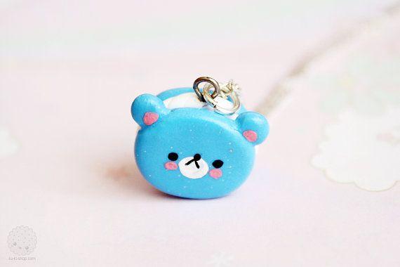 Bear Cookie Necklace Kawaii Cute Jewelry  Animal by kukishop, $16.00