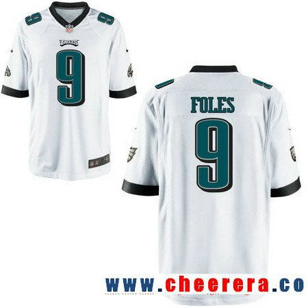pretty nice 41c67 b7546 Men's Philadelphia Eagles #9 Nick Foles White Road Stitched ...