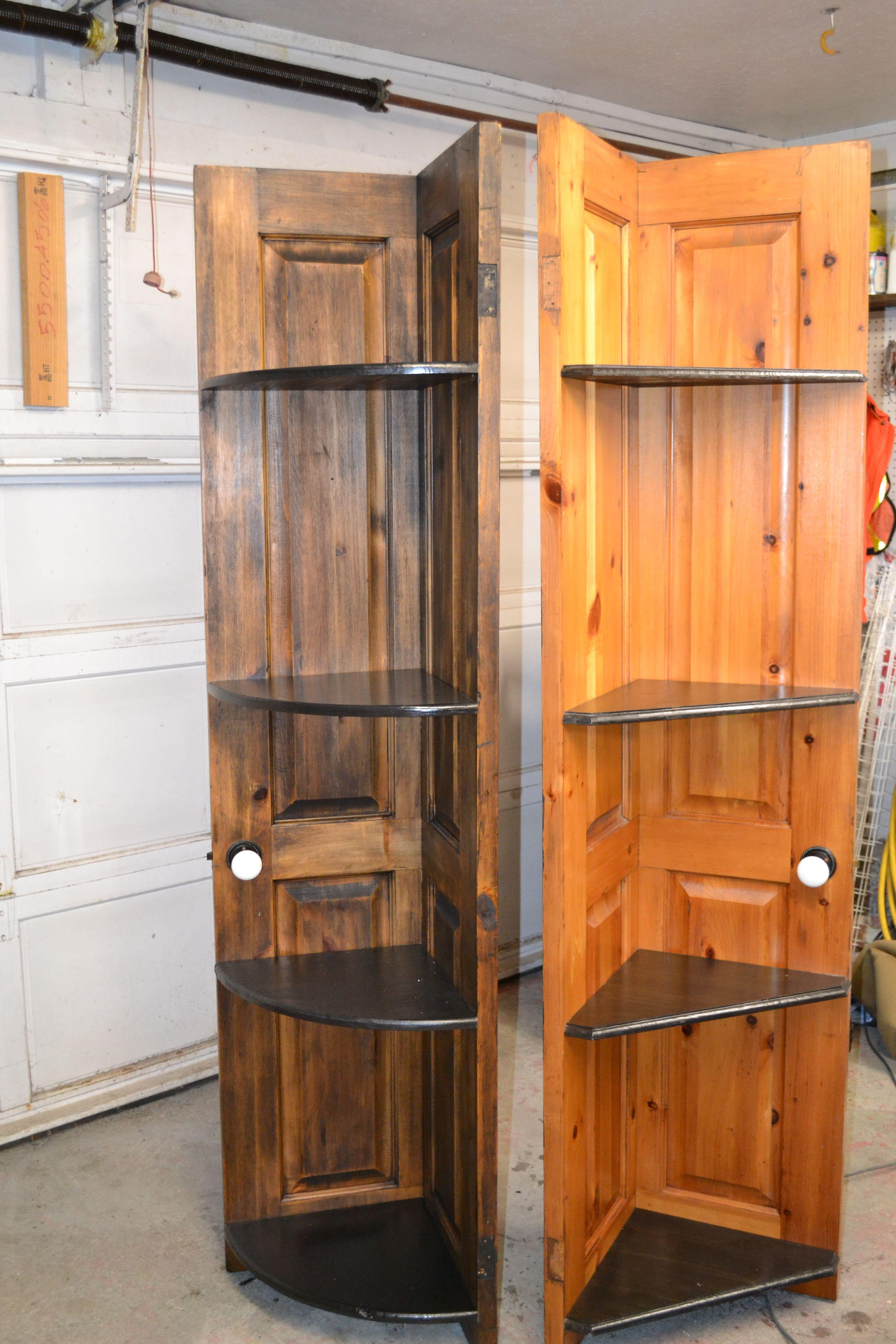 Corner Shelves Made From Old Doors Old Doors Shelves Door