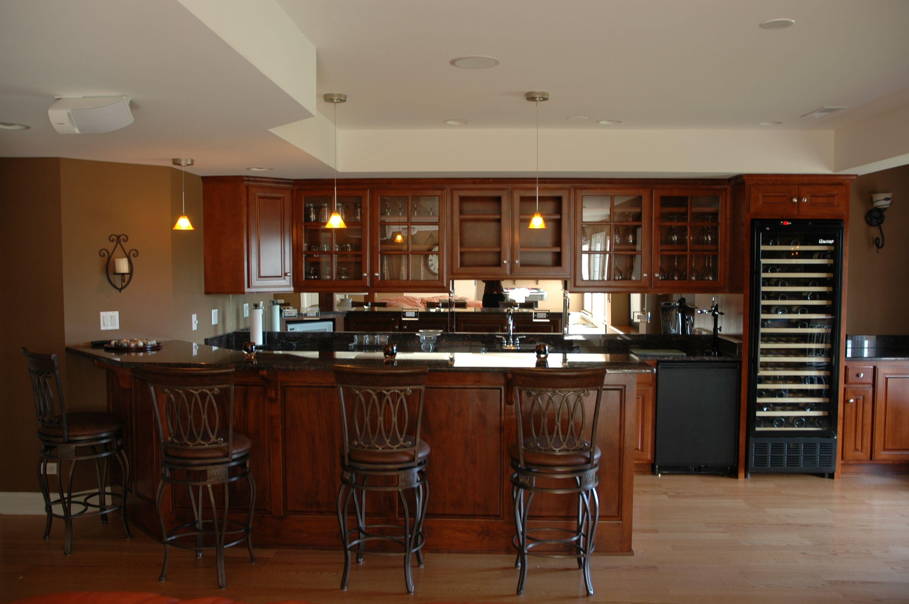 Perfect Basement Bar Ideas : Basement Bar Designs With Dark Brown Wall Image Id  5576   GiesenDesign