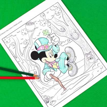 Mickey Mouse St. Patrick\'s Day Hidden Picture Coloring Page | Disney ...