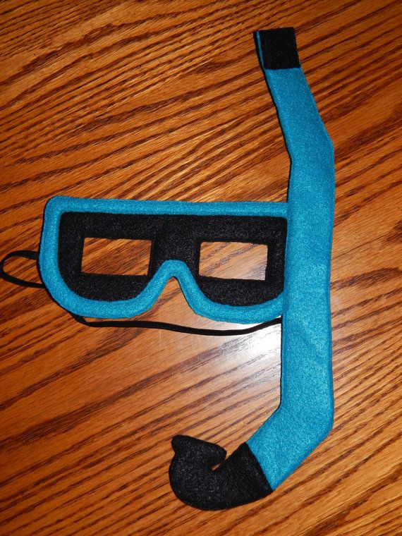 Use This Scuba Diving Snorkel Mask Fins Set Made From Felt As