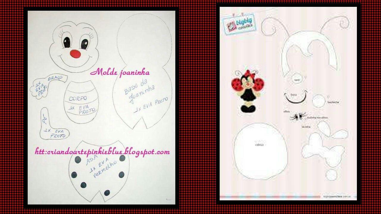 foami #papeleva #plantilla #mariquita #ladybug | Plantillas Foami y ...